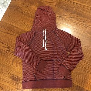 J CREW striped hoodie